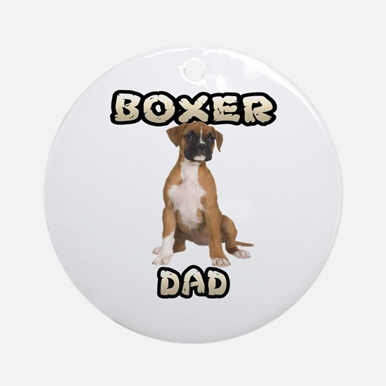 Boxer Dad Ornament (Round)