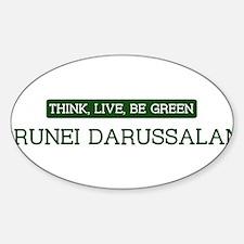 Green BRUNEI DARUSSALAM Oval Decal