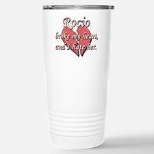 Rocio broke my heart and I hate her Travel Mug