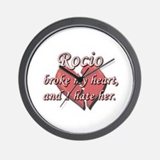 Rocio broke my heart and I hate her Wall Clock
