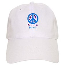 Paws for Peace Blue Baseball Cap