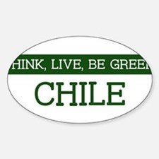 Green CHILE Oval Decal
