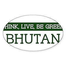 Green BHUTAN Oval Decal