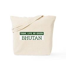 Green BHUTAN Tote Bag