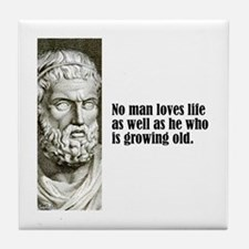 "Sophocles ""Loves Life"" Tile Coaster"