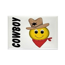Cowboy Smiley Rectangle Magnet (10 pack)