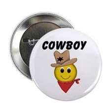 "Cowboy Smiley 2.25"" Button (10 pack)"