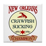 New Orleans Eating Champion Tile Coaster