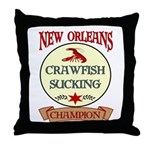 New Orleans Eating Champion Throw Pillow