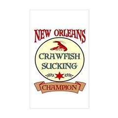 New Orleans Eating Champion Rectangle Decal