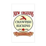 New Orleans Eating Champion Rectangle Sticker