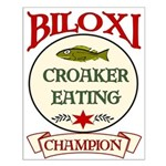 Biloxi Croaker Eating Champ Small Poster