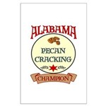 Alabama Pecan Cracking Champ Large Poster