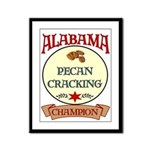 Alabama Pecan Cracking Champ Framed Panel Print