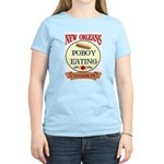 New Orleans Poboy Eating Cham Women's Light T-Shir