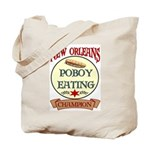 New Orleans Poboy Eating Cham Tote Bag