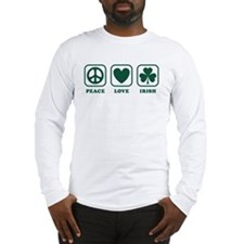 Peace Love Irish Long Sleeve T-Shirt