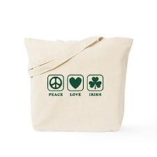 Peace Love Irish Tote Bag