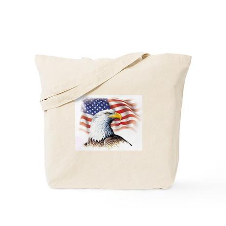 Patriotic Eagle & Flag Tote Bag