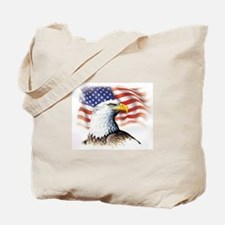 Patriotic Eagle & Flag Tote Bag