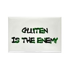 GLUTEN IS THE ENEMY Rectangle Magnet