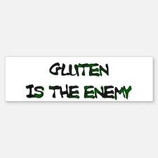 GLUTEN IS THE ENEMY Bumper Bumper Bumper Sticker