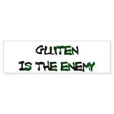 GLUTEN IS THE ENEMY Bumper Bumper Sticker