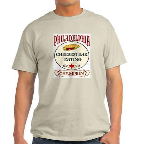 Philadelphia Cheesteak Eating Light T-Shirt