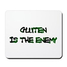 GLUTEN IS THE ENEMY Mousepad