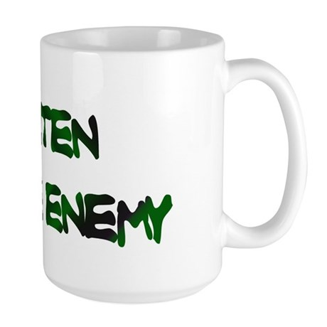 GLUTEN IS THE ENEMY Large Mug