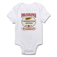 Philadelphia Cheesteak Eating Infant Bodysuit