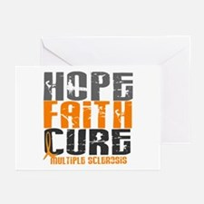 HOPE FAITH CURE MS Greeting Cards (Pk of 20)