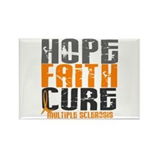 HOPE FAITH CURE MS Rectangle Magnet (10 pack)
