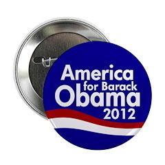 America for Barack Obama 2012 Button