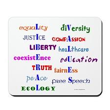 Liberal Values Mousepad