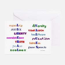 Liberal Values Greeting Cards (Pk of 10)