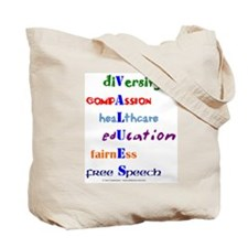 Liberal Values Tote Bag