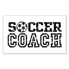 Soccer Coach Rectangle Decal