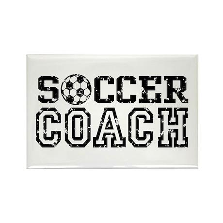 Soccer Coach Rectangle Magnet