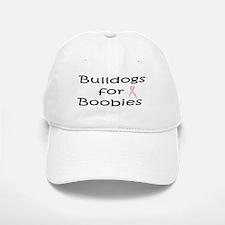 Bulldogs for Boobies Baseball Baseball Cap