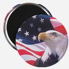 "Patriotic Eagle & Flag 2.25"" Magnet (10 p"