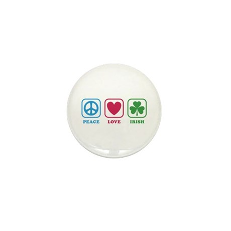 Peace Love Irish [icons] Mini Button (10 pack)
