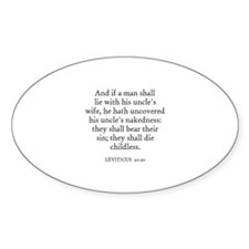 LEVITICUS 20:20 Oval Decal