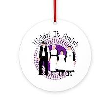 Riyah-Li Designs Kickin' It Amish Ornament (Round)