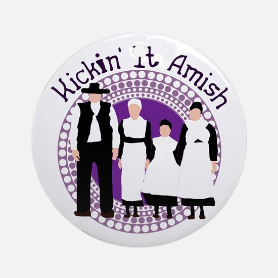 Riyah-Li Designs Kickin' It Amish Ornament (Round)