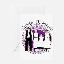 Riyah-Li Designs Kickin' It Amish Greeting Card