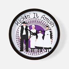 Riyah-Li Designs Kickin' It Amish Wall Clock