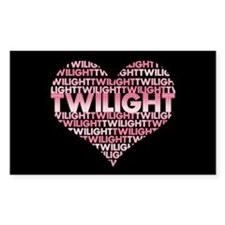 Twilight Heart Rectangle Decal
