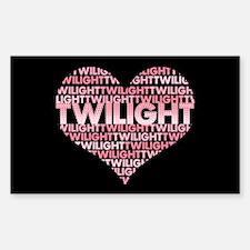 Twilight Heart Rectangle Decal
