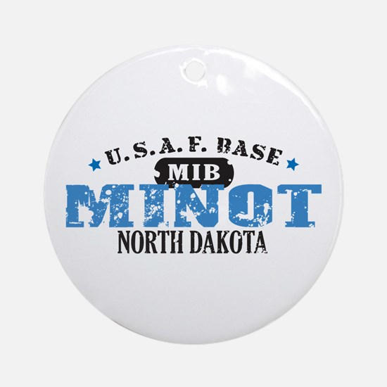 Minot Air Force Base Ornament (Round)